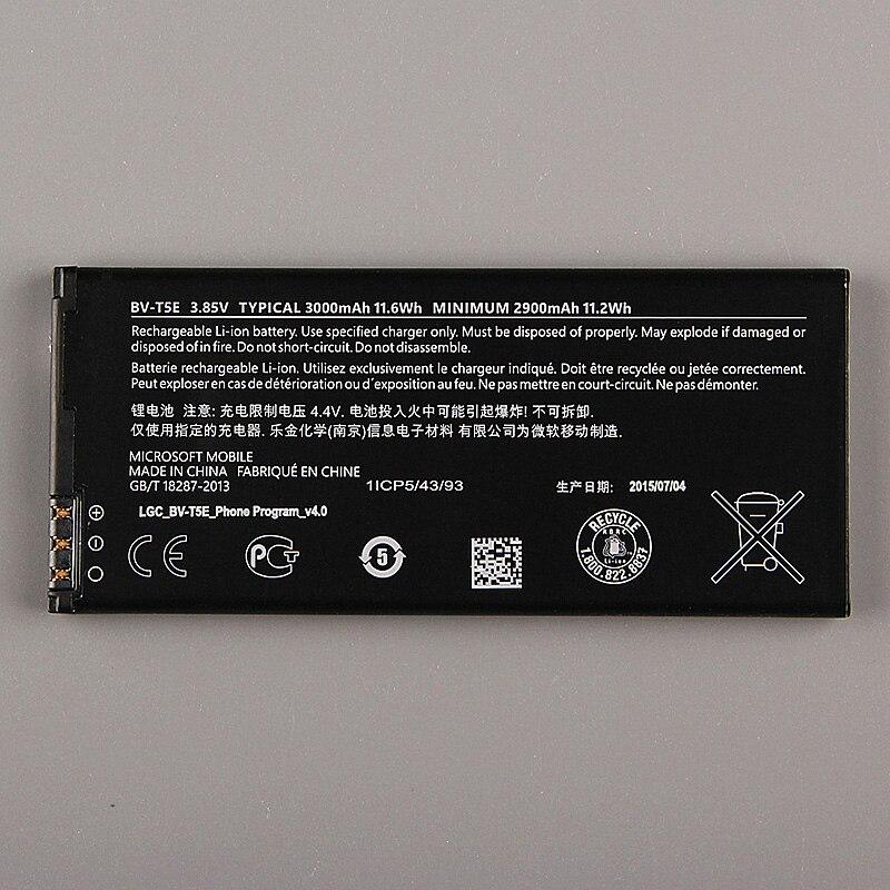 D'origine Nokia BV-T5E téléphone batterie pour Nokia Lumia 950 RM-1104 RM-1106 RM-110 McLa BVT5E 3000 mAh