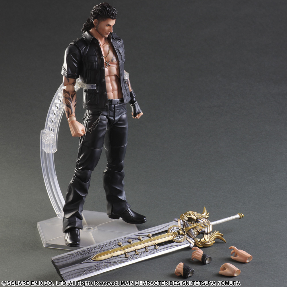 Play Arts KAI <font><b>Final</b></font> <font><b>Fantasy</b></font> <font><b>XV</b></font> FF15 Gladiolus Amicitia PVC Action <font><b>Figure</b></font> Collectible Model Toy 25cm KT3439 image
