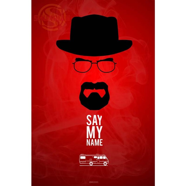 Breaking Bad Walter Poster Custom Canvas Poster Art Home Decoration Cloth Fabric Wall Poster Print Silk Fabric