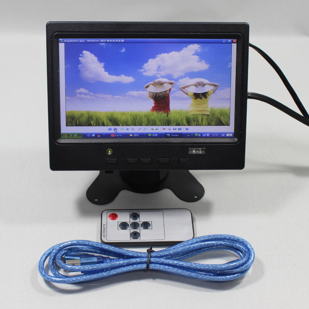 7inch 800x480 HDMI+VGA+AV input signal with touch screen Lcd monitor VS-T0701UNBT-V1