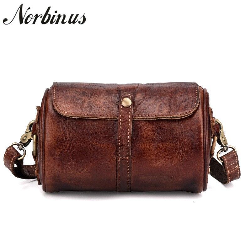 все цены на Norbinus Women Genuine Leather Handbag Female 2018 Luxury Brand Designer Small Bag Real Leather Messenger Shoulder Crossbody Bag онлайн