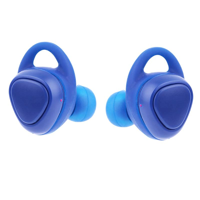 1 Pair Mini Bluetooth Wireless Earphone In Ear Sports Earbuds Small Earphones with Microphone with Charger Storage Box Blue