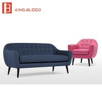 Серый Цвет ткань обивки деревянных ногах диван конструкции для Гостиная