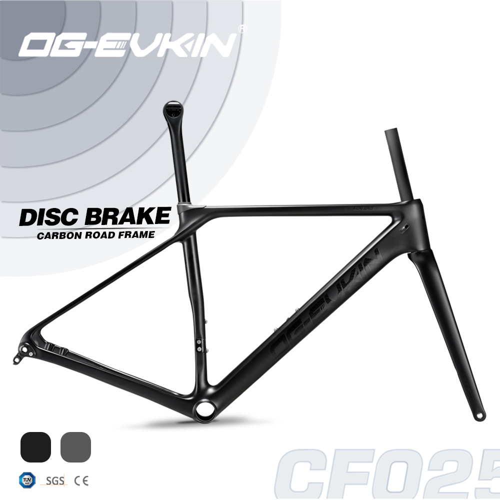 OG-EVKIN CF-025 Carbon Road Frame Disc Brake BB86 Bicycle Frame Carbon Framework Di2/Mechanical SuperLight 1050g Road Bike Frame(China)