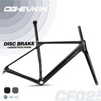 OG EVKIN CF 025 Carbon Road Frame Disc Brake BB86 Bicycle Frame Carbon Framework Di2/Mechanical SuperLight 1050g Road Bike Frame