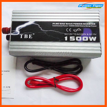 цена на High quality 1500w 1500W watt Pure Sine Wave Power Inverter Converter 12v DC to 220V AC 60HZ Car inverter Peak power 3000w