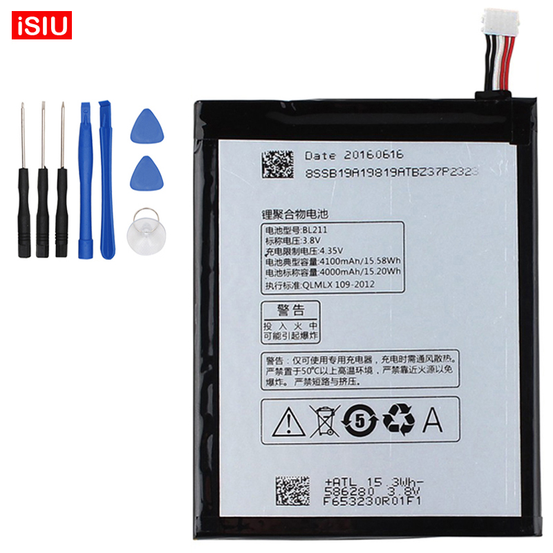 BL211 / BL 211 Battery 4100mAh For Lenovo P780 + Tools