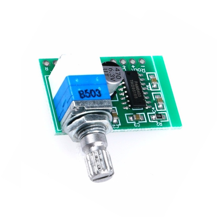 Super Mini PAM8403 DC 5V 2 Channel USB Digital Audio Amplifier Board Module 2 * 3W Volume Control With Potentionmeter Switch