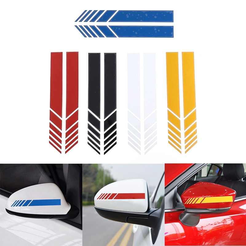 2 pièces/lot voiture style Auto SUV vinyle graphique voiture autocollant rétroviseur côté décalcomanie rayure bricolage voiture carrosserie décalcomanies