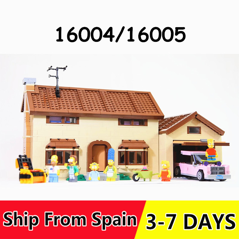16005 Simpso منزل الفيلم سلسلة اللبنات الطوب 16004 متوافق 71006 71016 الأولاد هدية-في حواجز من الألعاب والهوايات على  مجموعة 1
