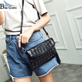 Fashion Solid wholesale Rivet Women's Clutch Bag Leather 2017 Women Envelope Bag Clutch Evening Bag Female Clutches Handbag