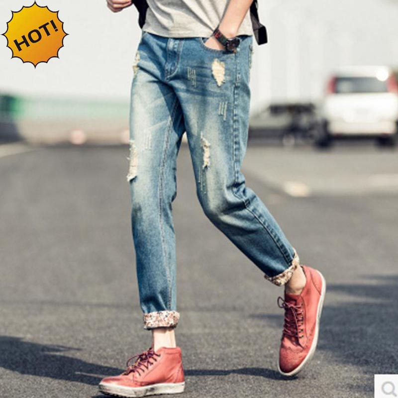 Mens Ripped Jeans Cuffed Promotion-Shop for Promotional Mens ...