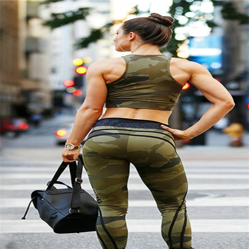 Sexy   Leggings   Women Camouflage Printed Classic Trousers Female Army Green Stretch Slim High Waist Workout Jeggings