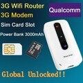 3G Roteador Wi-fi Com Slot Para Cartão Sim Mini Mifi Sem Fio ao ar livre Portátil Mobile Hotspot Desbloqueado Modem Wi Fi repetidor Poder banco