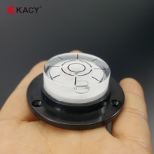 KACY 50x17mm 1pcs/lot plastic base Circular scales spirit Level with three mounting holes