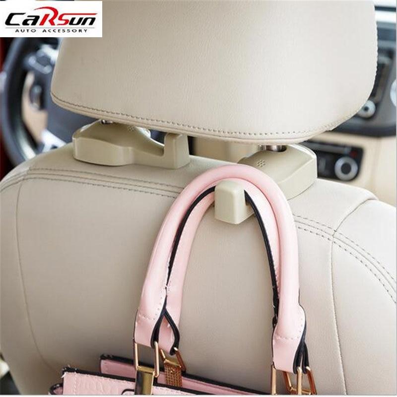 2pcs Car Hook Auto Vehicle Seat Headrest Silica Gel Bag Hook Car Interior Accessories Hanger Holder Hanger Gift Suits цена 2017