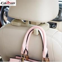 2pcs Car Hook Auto Vehicle Seat Headrest Silica Gel Bag Interior Accessories Hanger Holder Gift Suits