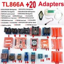 Tl866a programmeur + 20 adaptateurs USB Universal TL866 AVR PIC Bios 51 MCU EPROM Flash programmeur russe anglais manuel