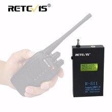 Матовый Оболочки Железа Retevis R-511 Портативный Счетчик Частоты Метр ЖК-Дисплей 50 МГц-2.4 ГГц CTCSS/DCS Декодер для Портативной Рации