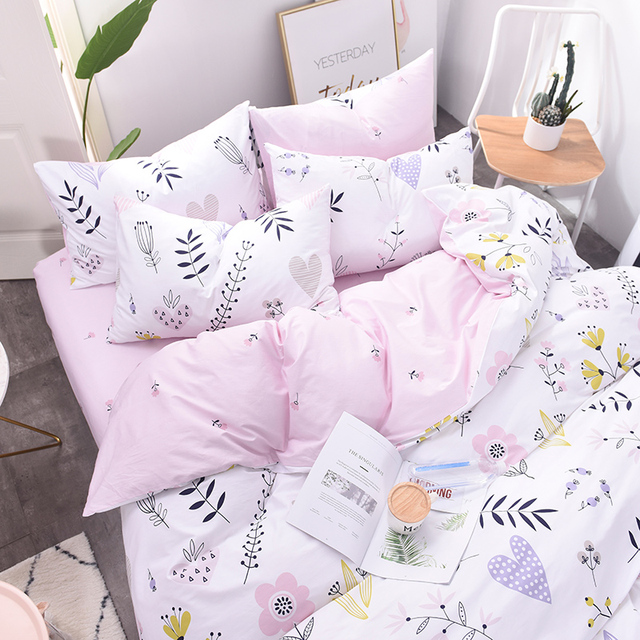 King And Queen Bedding Bed Sheet 100 Cotton Bedding Queen Size Set Designer  Bed Set Pillowcases