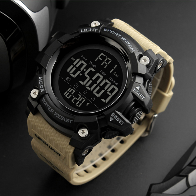 купить SKMEI 2018 Mainly Model 1384 Men Wristwatch Shock 50m Water Proof LED Chrono Alarm Clock Sport watch Man Digital erkek kol saati по цене 883.29 рублей