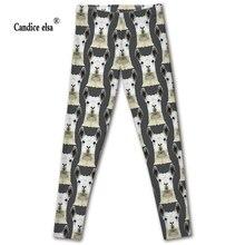 CANDICE ELSA leggings women sexy leggin alpaca print pants trousers stretch plus size wholesale zjl288