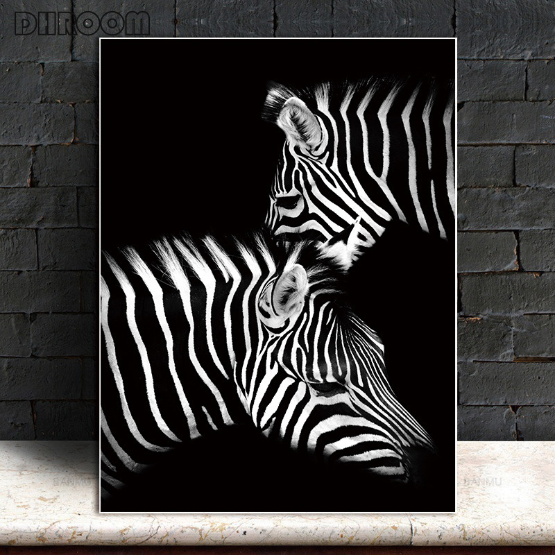 HTB1G3k aRCw3KVjSZR0q6zcUpXaN Nordic Canvas Art Painting Wall Art Animal Canvas Painting Lion Zebra Wall Pictures posters Print for Living Room Home Decor