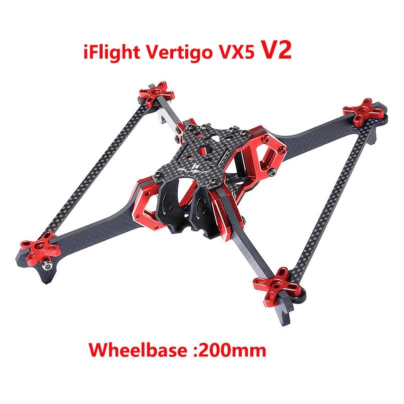 IFlight Vertigo VX5 V2 200mm empattement 5 pouces cadre Kit 4mm bras CNC en aluminium Rack pour Drone de course FPV quadrirotor bricolage modèle