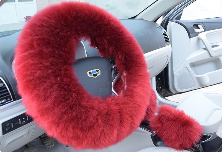 long-Wool-Plush-Steering-Wheel-Cover-Woolen-Winter-Car-Accessory-wine red