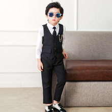 13a06658b New 2019 Baby Boy Suit Wedding Suits for Boys Tuxedo Gentleman Suit Kids  Boys Dresses Boy Suits Formal (Vest+Shirt+Pant)