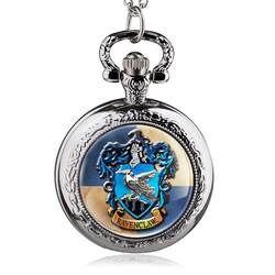 Новое поступление Хогвартс Школа Орел Стекло купол кварцевые карманные часы Цепочки и ожерелья Для мужчин Для женщин детский подарок