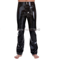 Rubber Latex Man Trousers Pants Fetish Costumes with Pockets Plus Size XXXL Supply Custom Made