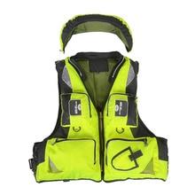 Lixada Professional Fly Fishing Vest Fishing Polyester Back Fishing Jacket Survival Vest Swimming Boating Drifting