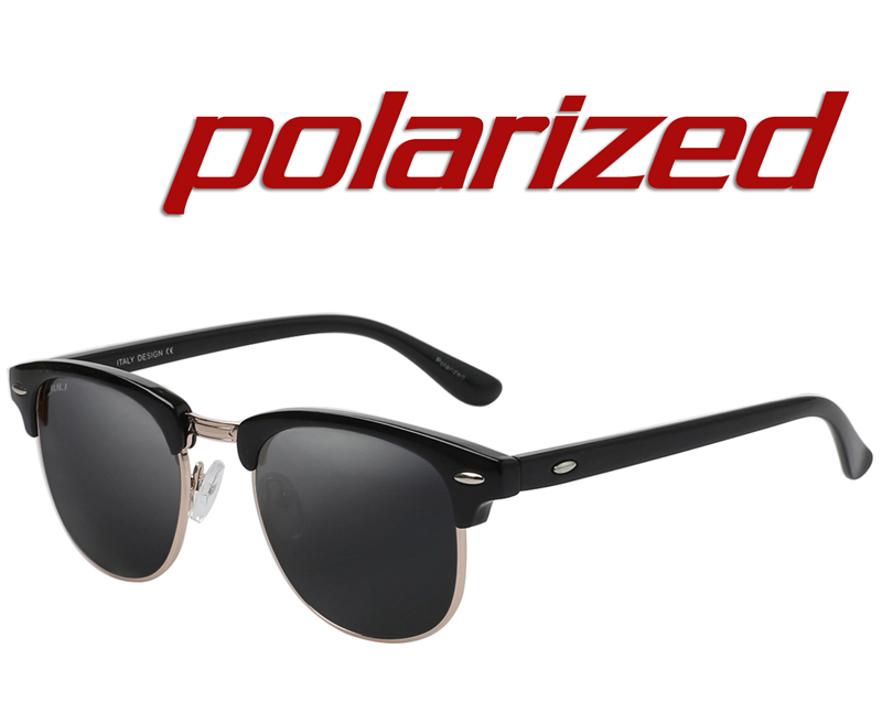 JULI Polarisées lunettes de Soleil Mode Hommes Marque Designer Semi-Sans  Monture Lunettes de Soleil Rivet Lunettes Homme Femme Unisexe Ocluos De Sol 68956b063be1