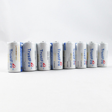 20pcs/lot TrustFire 1400mAh CR123A 3V Lithium CR 123A Disposable Battery Fit for Flashlight Baby Toy Camera Batteries soshine cr123a 3v disposable lithium batteries 2 pcs