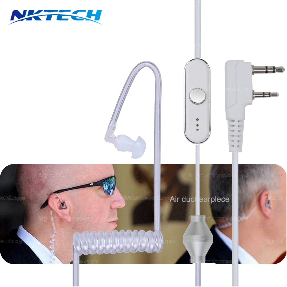 Подробнее о 5pcs NKTECH Acoustic Tube 2 Pin PPT Earpiece for Radio Walkie Talkie Headset Throat Mic Microphone for Baofeng Accessories uv-5r 10pcs bestface 2 pin earpiece earphone with microphone for baofeng uv 5r bf 888s gt 3 walkie talkie radio