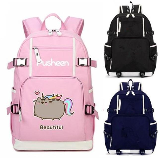 e8d4e0b4aa6d3 Piękne Czytanie Kot Jednorożec Różowy Plecak tornister Na Co Dzień  Młodzieży Student Book Podróży Laptop Dziewczyna