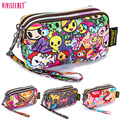 2016 Fashion Women Handbag Wristlet Pencil Cosmetic Case Printing Clutch Bag Cute Floral Cartoon Coin Phone Purse Pouch