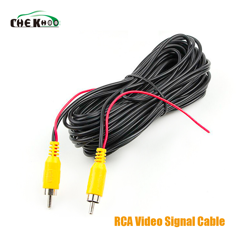 6/10M RCA Video Cable Car Reverse Rear View Parking Camera Video Cable With Detection Wire Audio Converter Cable