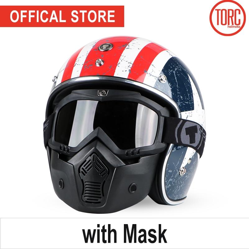 TORC motorcycle helmet mask vintage open face 3/4helmet motorbike motocross jet retro helmet capacete DOT T50 vespa moto helmet брелок для животных crazy paws бишон