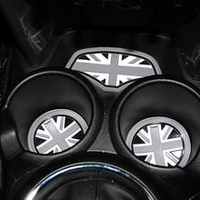 3 шт Юнион Джек Автомобильная чашка кофейная подушка для хранения паз подставка авто нескользящий коврик для Mini Cooper Clubman F55 F56 аксессуары
