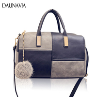 Fashion Patchwork Pillow Handbags Hairball Bag Famous Brand Shoulde Bags Hot Sale Women Evening Clutch Ladies