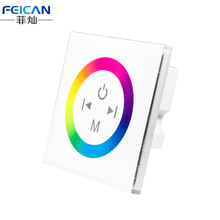 DC12V-24V 4A /CH White Touch panel RGB full color led controller /wall mounted RGB touch panel controller Free shipping