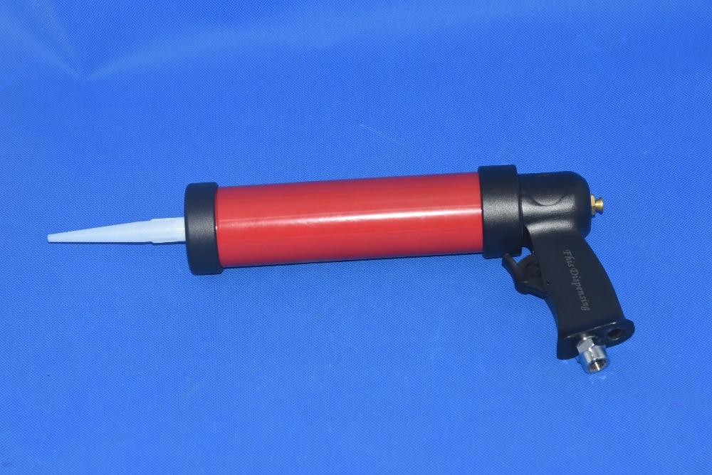 pneumatic caulking glass glue gun 310ml 1pcs + cartridge 1pcs new arrival 310ml pu sealant gun air caulking gun sausage type pneumatic caulking gun noise less than 70db glass glue gun
