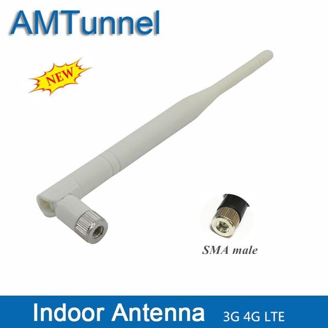 3G 4G LTE ăng-ten 6dBi 3G LTE ăng ten trong nhà SMA nam Omni Roi ăng ten nội bộ cho 3G 4G LTE điện thoại di động tăng cường tín hiệu repeater