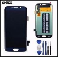 Sinbeda Borda da Qualidade Superior Para Samsung Galaxy S6 LCD Screen Display Toque Digitador Assembléia Para G925 G925F G925i Branco/azul/Ouro