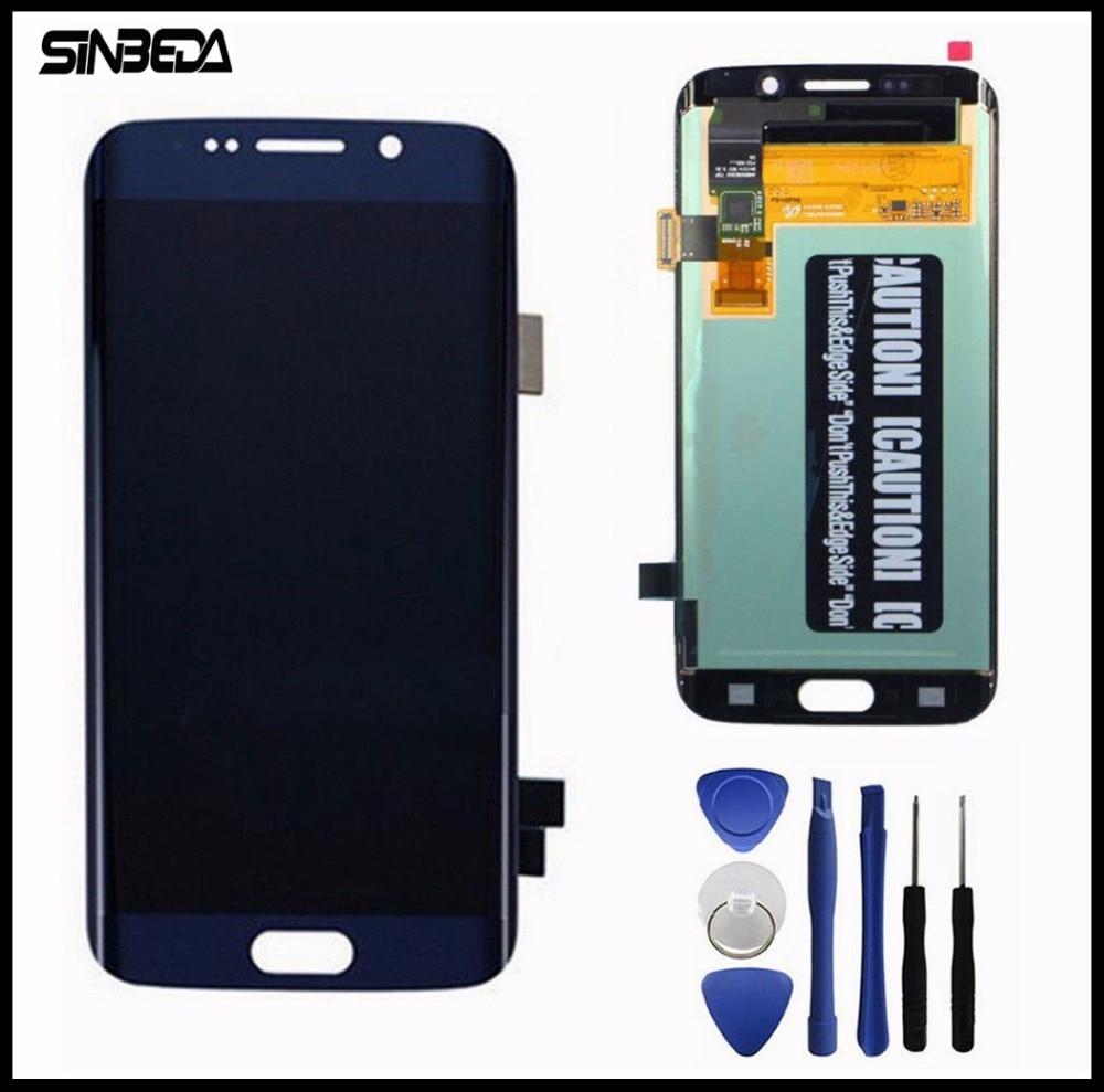 Sinbeda Top Qualité Pour Samsung Galaxy S6 Bord LCD Affichage à L'écran Tactile Digitizer Assemblée Pour G925 G925F G925i Blanc/bleu/Or