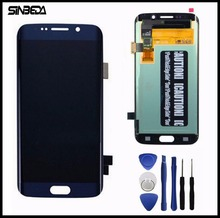 Sinbeda Top Qualität Für Samsung Galaxy S6 Rand LCD Display Touchscreen Digitizer Assembly Für G925 G925F G925i Weiß/blau/Gold