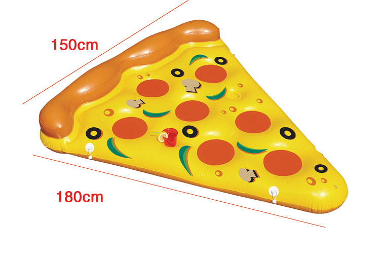 Pizza Giant Inflatable Swimming Pool Float 180*150cm Summer Water Toys Beach Resting Lounger Air Mattress Raft Outdoor Fun Toy