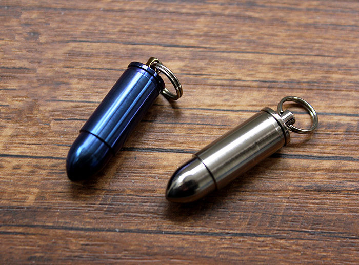 Pure Titanium Bullet Modeling Waterproof Warehouse Box Drug Box Capsule Send Chain EDC Multi Tools